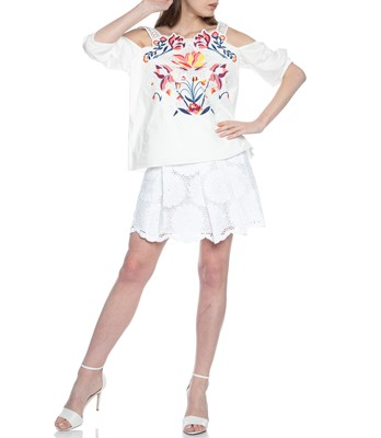 Picture of FLORAL CUTWORK MARJA TOP