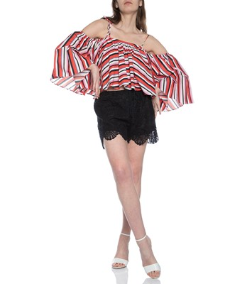 Picture of AMALFI STRIPE FRILL TOP