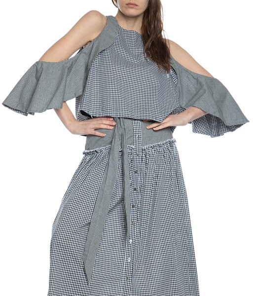 Picture of GINGHAM DRAPE SLEEVE TOP, Picture 3