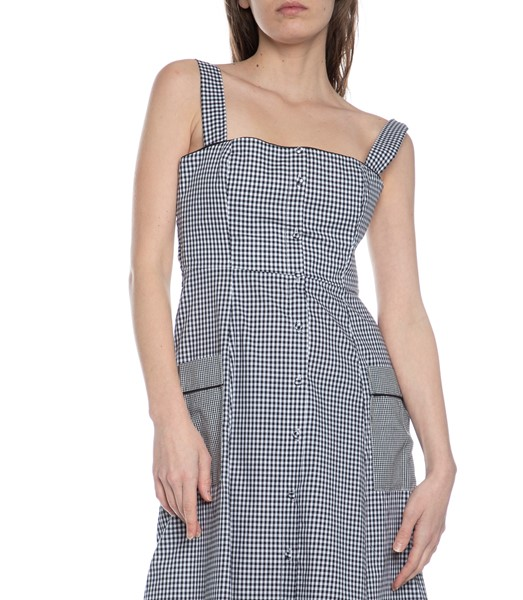 Picture of GINGHAM SQUARE NK MIDI DRESS, Picture 3