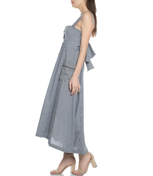 Picture of GINGHAM SQUARE NK MIDI DRESS, Picture 4