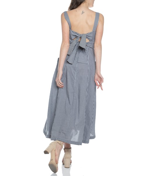 Picture of GINGHAM SQUARE NK MIDI DRESS, Picture 5