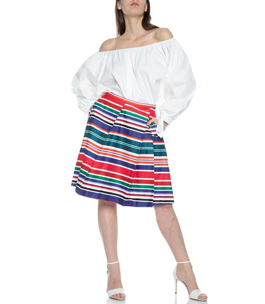 Picture of ASYMMETRICAL CABANA STRIPE SKIRT, Picture 1