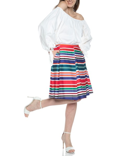 Picture of ASYMMETRICAL CABANA STRIPE SKIRT, Picture 2