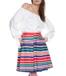 Picture of ASYMMETRICAL CABANA STRIPE SKIRT