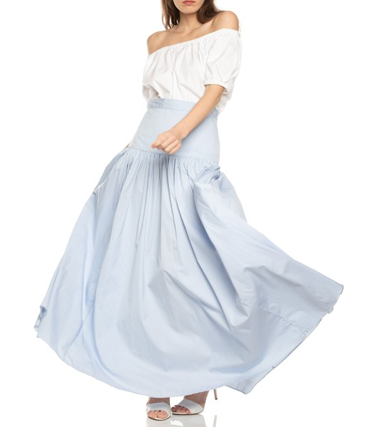 Picture of SHORT SLEEVE PEASANT TOP WHITE, Picture 1