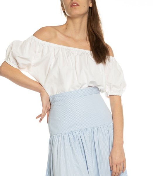 Picture of SHORT SLEEVE PEASANT TOP WHITE, Picture 2