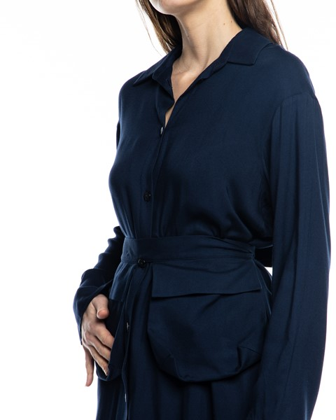 Picture of MIDI NAVY SHIRT DRESS WITH BELT POCKETS, Picture 4