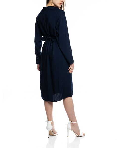 Picture of MIDI NAVY SHIRT DRESS WITH BELT POCKETS, Picture 5