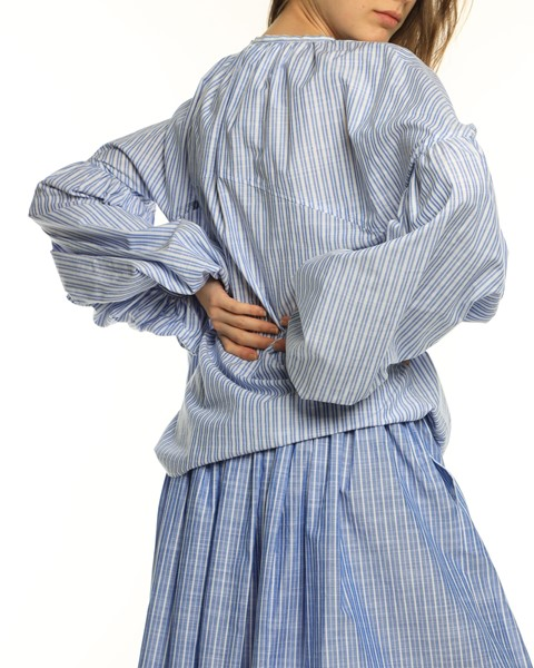 Picture of BALLON SLEEVE STRIPED BLOUSE, Picture 5