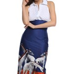 Picture of HIGH WAIST MIDI PENCIL SKIRT