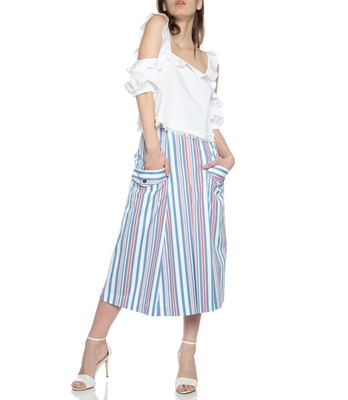 Picture of MIDI SKIRT STRIPED