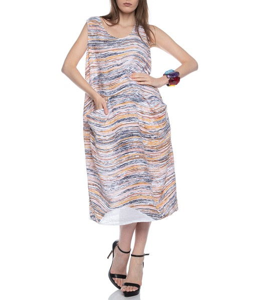 Picture of DRESS EARTH WAVE PRINT, Picture 1
