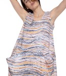 Picture of DRESS EARTH WAVE PRINT
