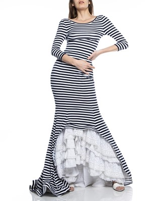 Picture of MAXI DRESS RUCHED STRIPED