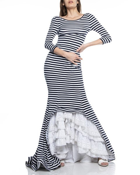 Picture of MAXI DRESS RUCHED STRIPED, Picture 1