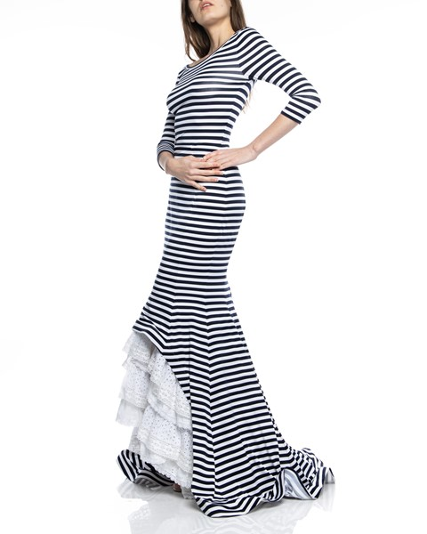 Picture of MAXI DRESS RUCHED STRIPED, Picture 4