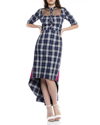 Picture of MIDI CHECKED DRESS
