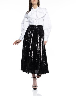 Picture of PLEATED SEQUIN SKIRT