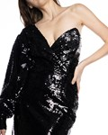 Picture of SINGLE ARM SEQUIN DRESS WITH CORSET