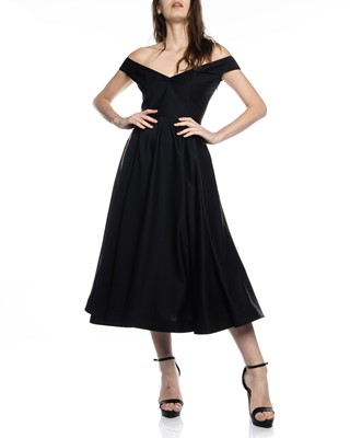 Picture of BARDOT OFF SHOULDER FLARE DRESS
