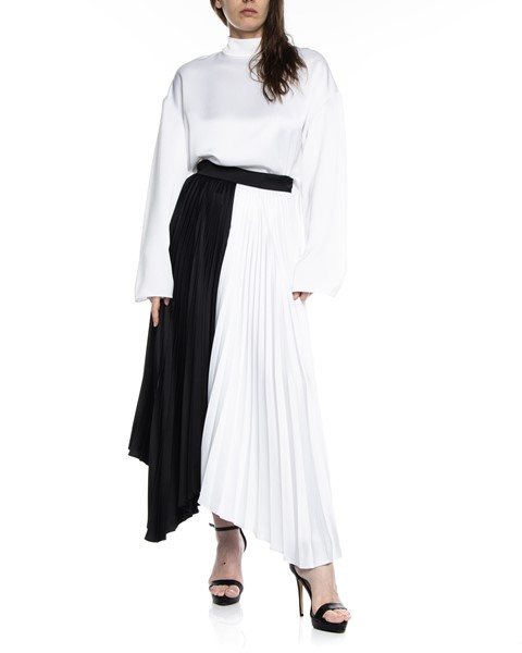 Picture of ASYMMETRIC BI COLLAR PLEATED SKIRT, Picture 1