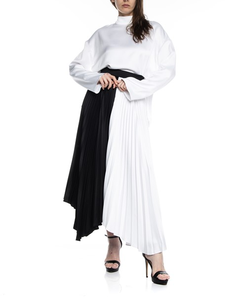 Picture of ASYMMETRIC BI COLLAR PLEATED SKIRT, Picture 2