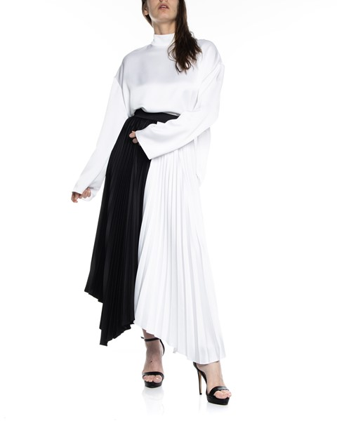 Picture of ASYMMETRIC BI COLLAR PLEATED SKIRT, Picture 3