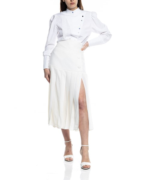 Picture of PLEATED WOOL CREAM SKIRT, Picture 1