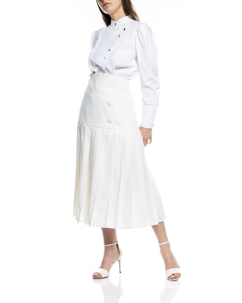 Picture of PLEATED WOOL CREAM SKIRT, Picture 2