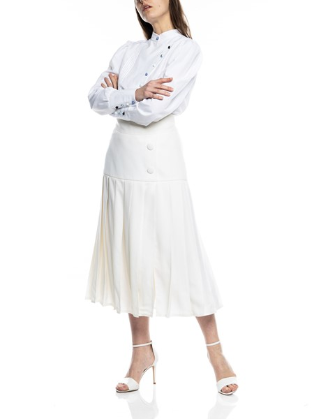 Picture of PLEATED WOOL CREAM SKIRT, Picture 3