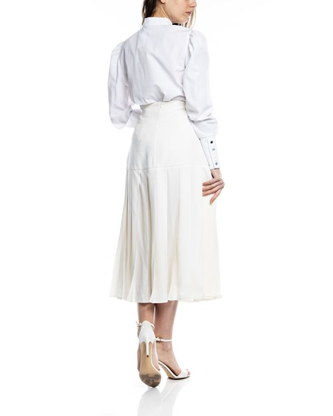 Picture of PLEATED WOOL CREAM SKIRT, Picture 5