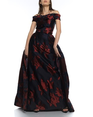 Picture of DRESS BURGUNDY