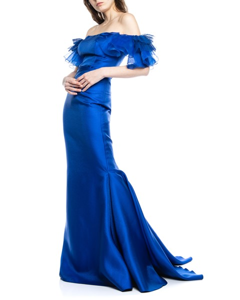 Picture of LONG DRESS ROYAL BLUE, Picture 3