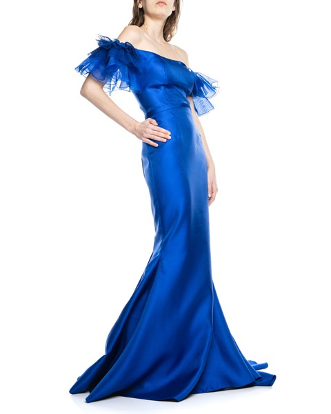 Picture of LONG DRESS ROYAL BLUE, Picture 4