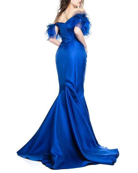 Picture of LONG DRESS ROYAL BLUE, Picture 5