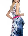 Picture of LONG DRESS BLUE & FUSHIA