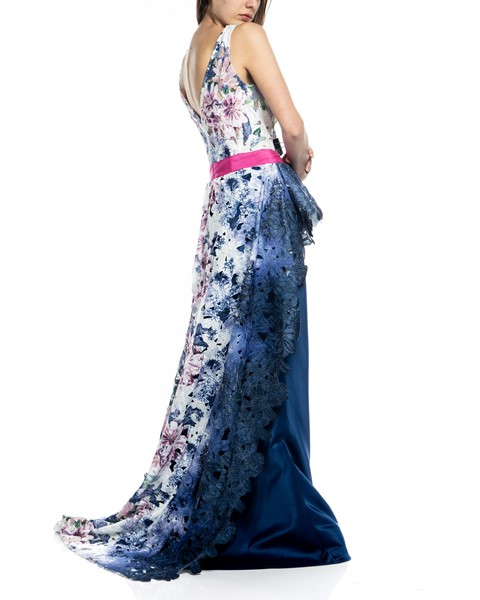 Picture of LONG DRESS BLUE & FUSHIA, Picture 5