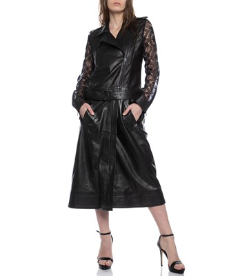 Picture of TWO-FER BIKER TRENCH LACE COMBO