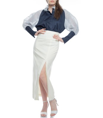 Picture of BLOUSE NAVY & WHITE