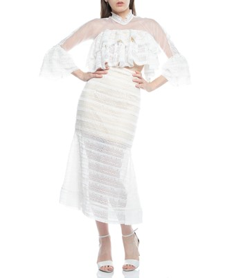 Picture of TOP & SKIRT  IVORY