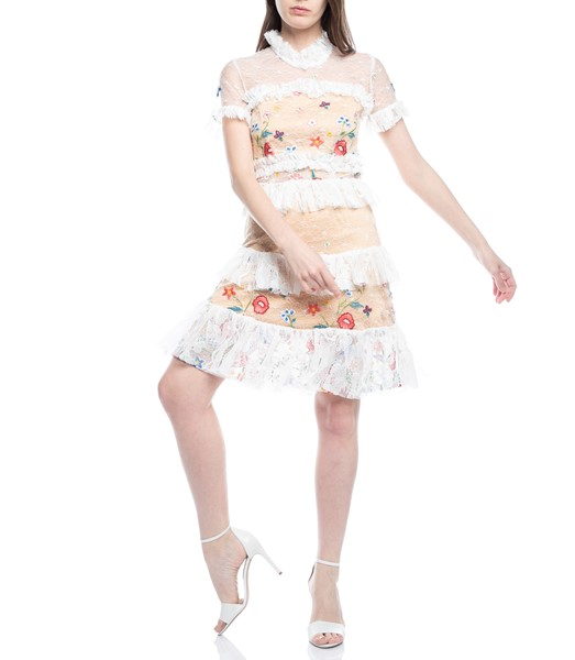 Picture of LACE FLORAL RUFFLE DRESS, Picture 1