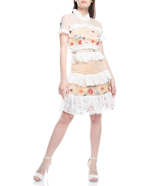 Picture of LACE FLORAL RUFFLE DRESS, Picture 2