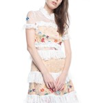 Picture of LACE FLORAL RUFFLE DRESS