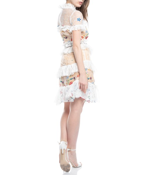 Picture of LACE FLORAL RUFFLE DRESS, Picture 5