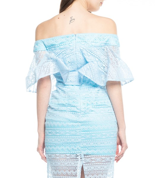 Picture of SINGLE RUFFLE OFF SHOULDER LACE DRESS, Picture 5