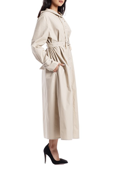 Picture of HOODED DRESS WITH BELT, Picture 4