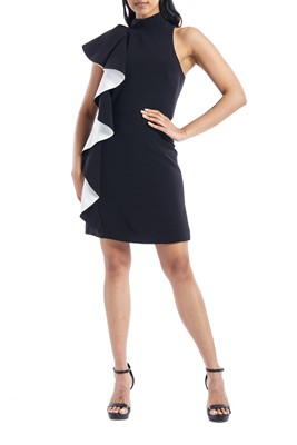 Picture of FLOUNCE CREPE DRESS