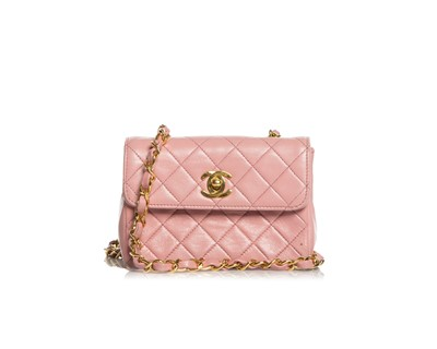 Picture of CHANEL PINK QUILTED LEATHER MINI CLASSIC FLAP