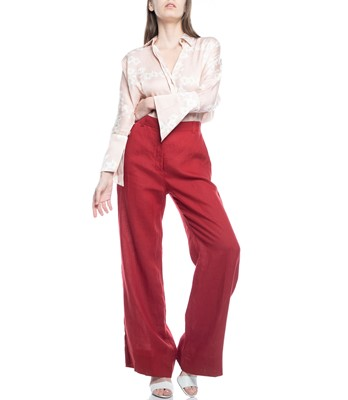 Picture of TROUSERS RED WITH BACK POCKETS